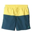adidas Kinder Badeshort youth 3 stripes colorblock short middle lengh gelb grün
