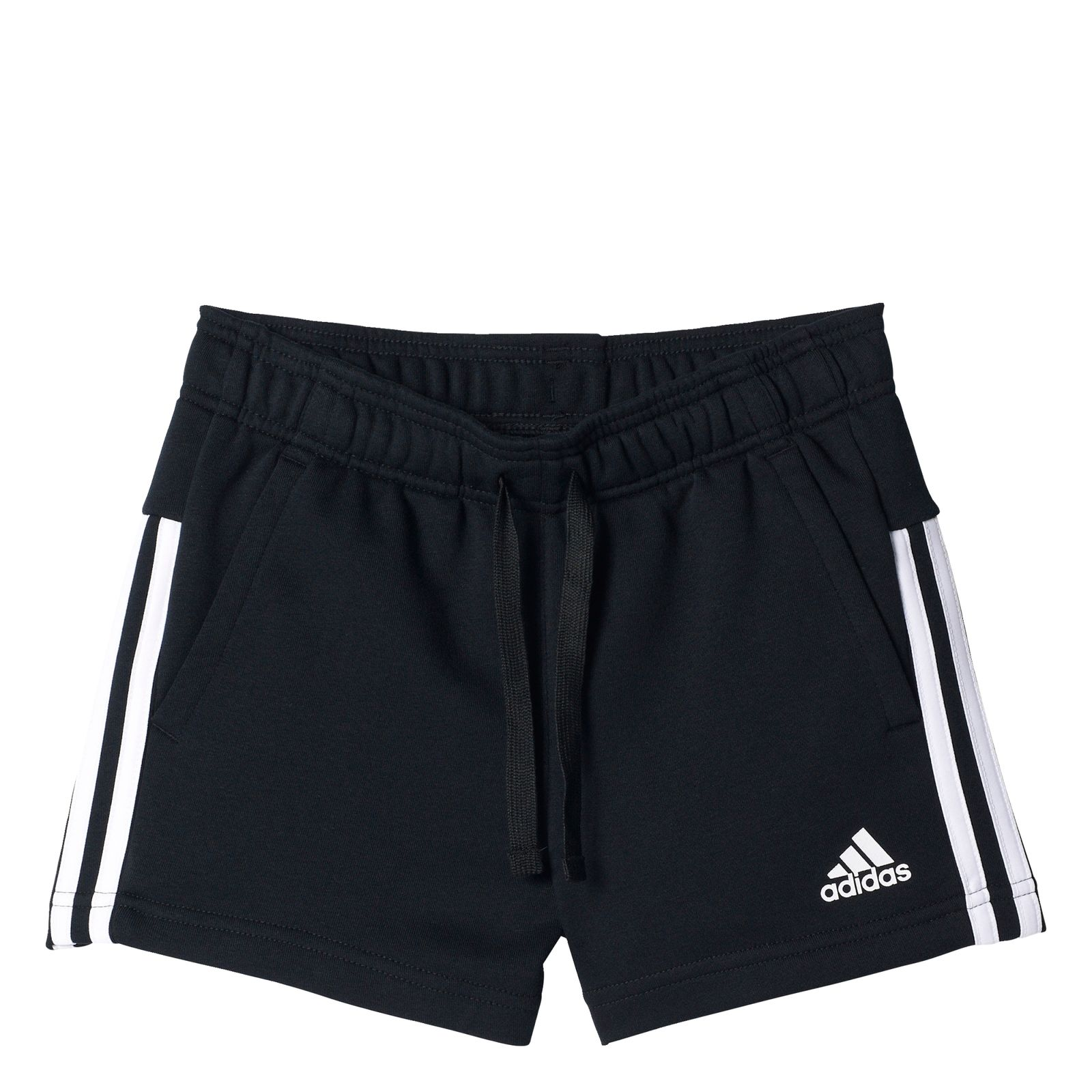 4cfa5a43291f filles de performance ADIDAS Pantalons de Essentials 3 stripes serrés de sport  noir   blanc