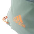 adidas Damen Fitness Freizeit Beutel TRAINING GYM BAG grün orange Bild 5