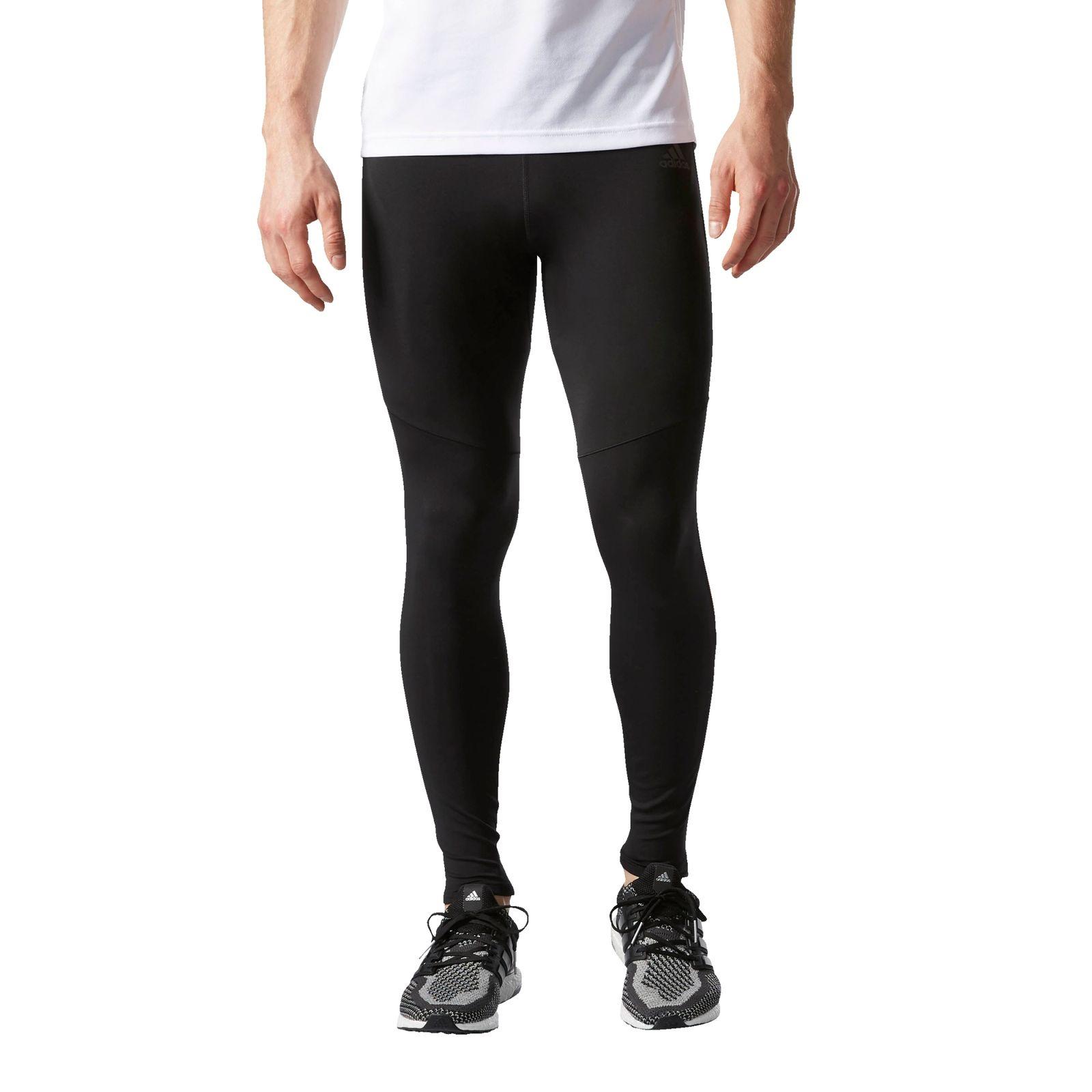adidas Performance Herren Laufhose Response 34 Tight Sporthose Black Men Hosen Funktionshose