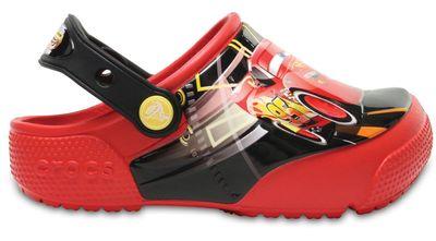 Crocs Kinder Sport Freizeit Clog Crocs Fun Lab Lights Cars 3 Kids rot schwarz