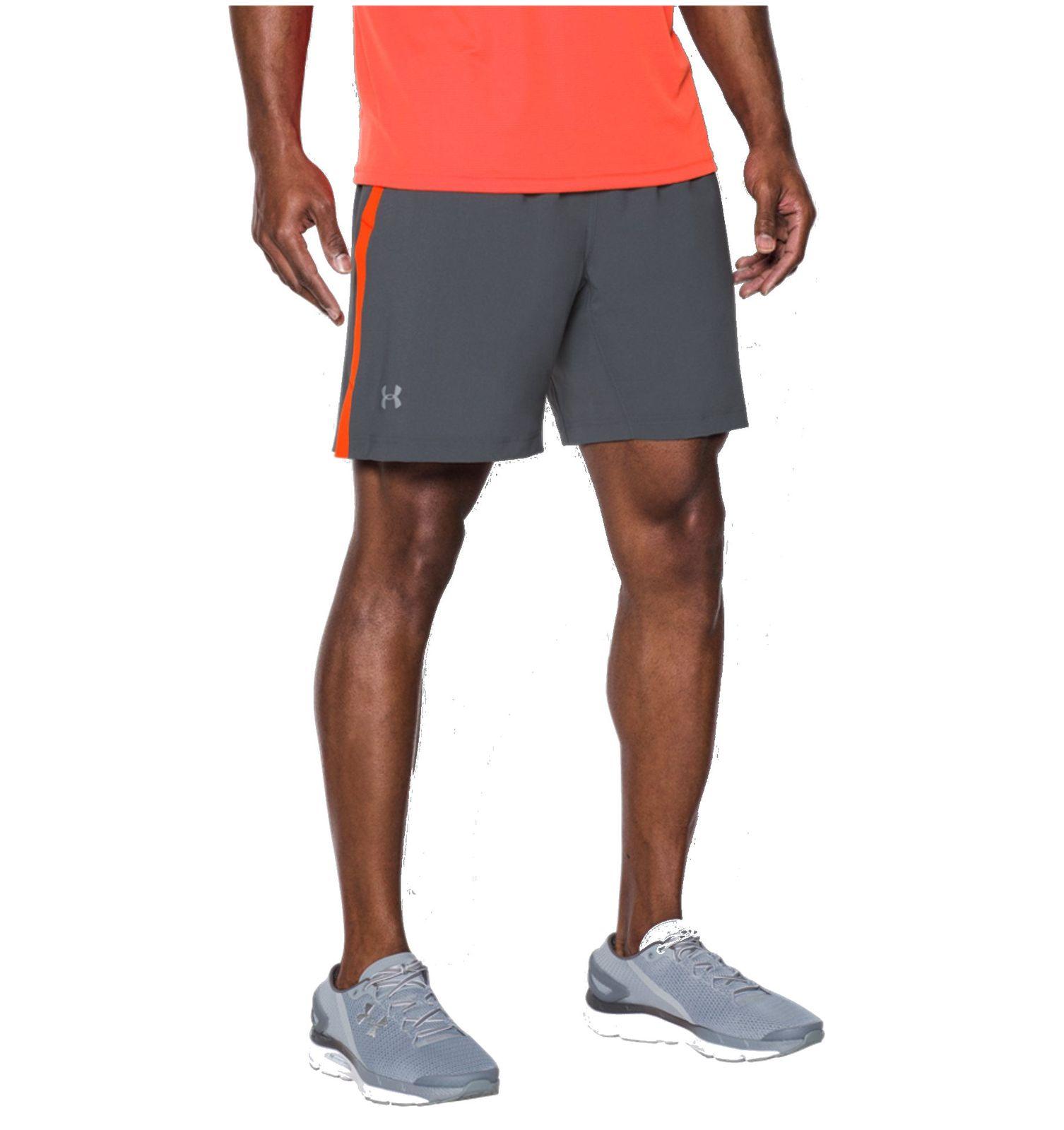 under armour herren sport fitness short 2 in 1 shorts ua launch grau rot ebay. Black Bedroom Furniture Sets. Home Design Ideas