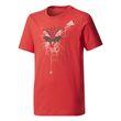 adidas Kinder Sport Freizeit T-Shirt Marvel Spider-Web - Youth Boy Tee rot