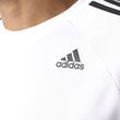 adidas Herren Sport Freizeit T-Shirt DESIGN TO MOVE TEE 3 STRIPES weiss schwarz Bild 4