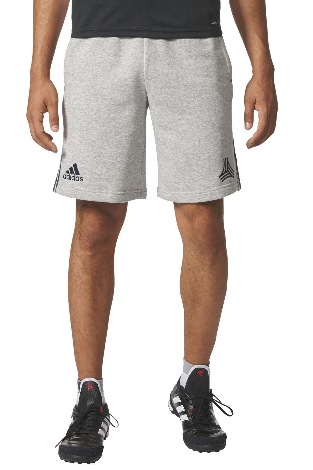 adidas herren fussball sport short sport tansweat shorts grau blau. Black Bedroom Furniture Sets. Home Design Ideas