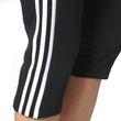 adidas Damen Sport Fiteness Capri Essentials 3 Stripes 3/4 Pant schwarz / weiss Bild 5