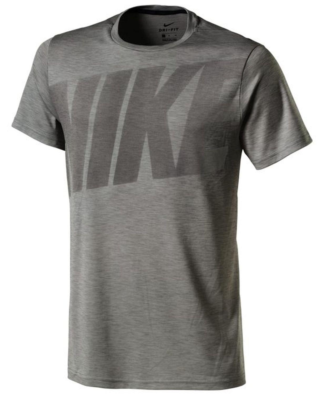 nike herren sport fitness t shirt nike dry top hpr grau. Black Bedroom Furniture Sets. Home Design Ideas