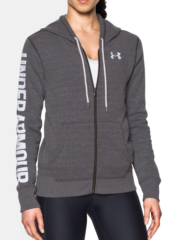 under armour damen fitness sweatjacke fleece ua favorite fz hoodie grau. Black Bedroom Furniture Sets. Home Design Ideas