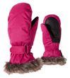Ziener Kinder Ski Handschuh Fäustling LED MITTEN GIRLS pink