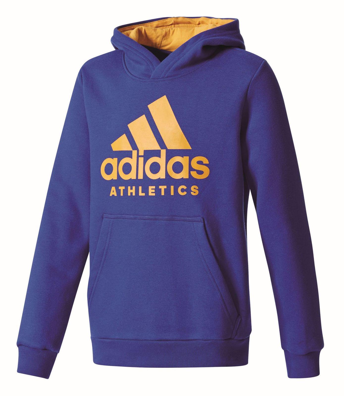 Details zu adidas Performance Kinder Pullover YB Ess 3S Iconic Full Zip Hoodie blau