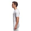 adidas Herren Fitness Sport Shirt Alphaskin Compression T-Shirt UV 50+ weiss Bild 3