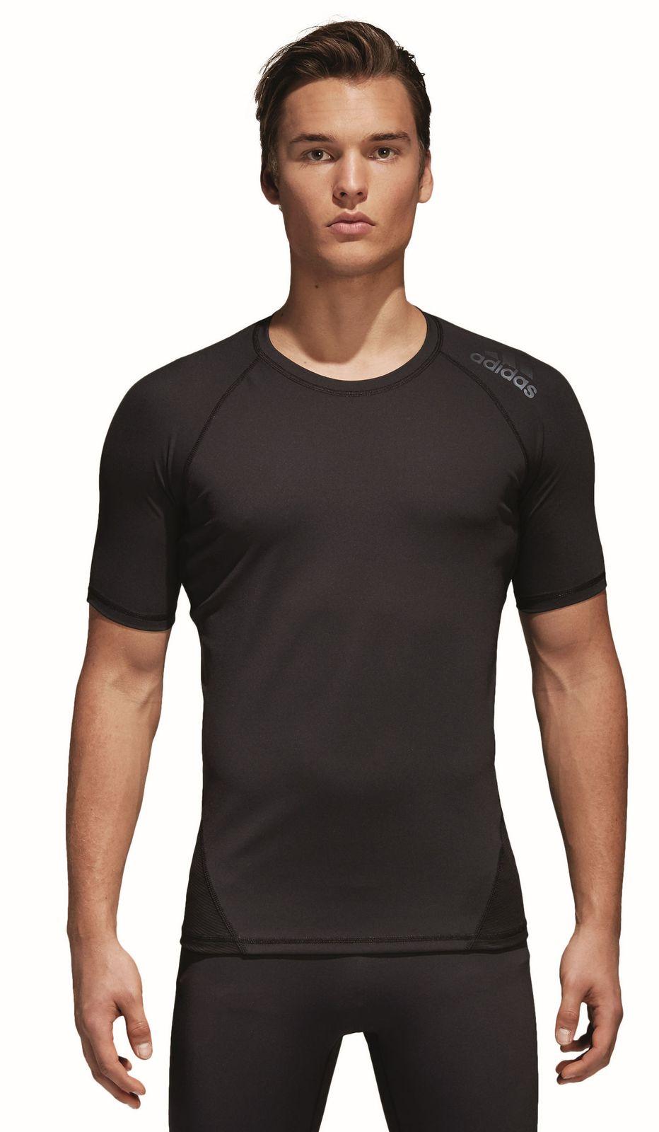 adidas herren fitness sport shirt alphaskin compression t shirt uv 50 schwarz. Black Bedroom Furniture Sets. Home Design Ideas