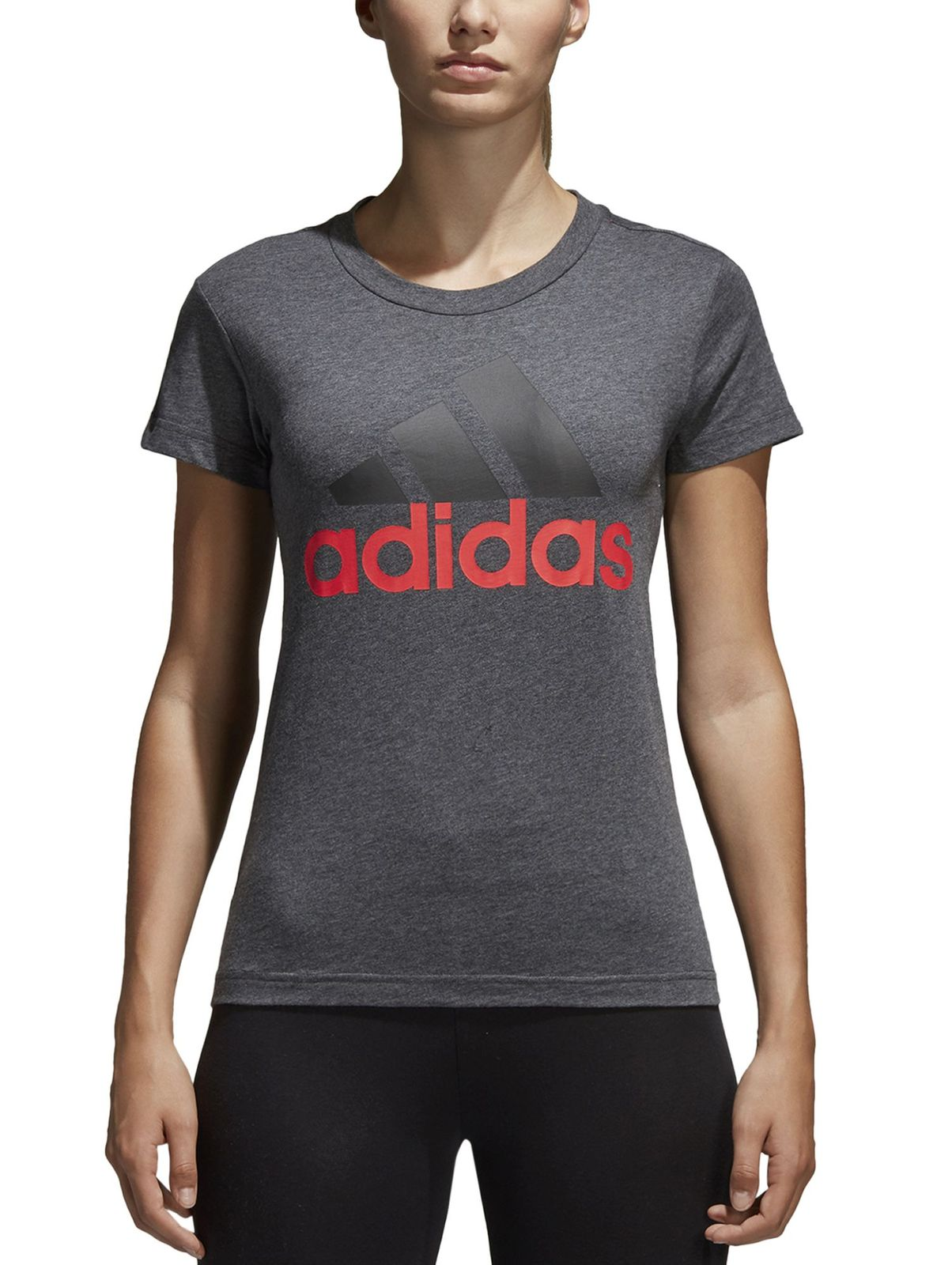 adidas damen fitness sport t shirt essentials linear slim. Black Bedroom Furniture Sets. Home Design Ideas