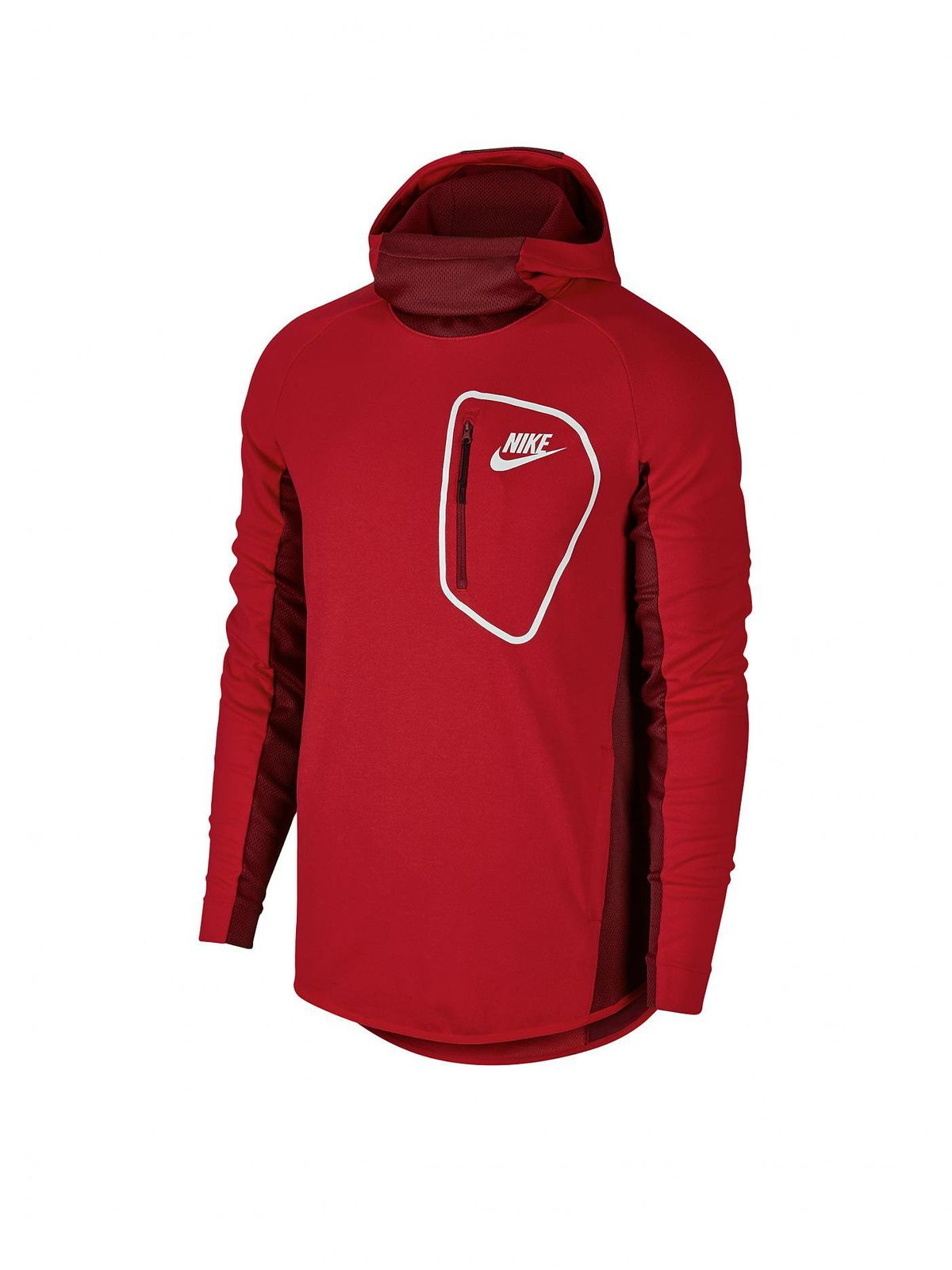 nike herren sport freizeit pullover nsw av15 hoodie rot weiss. Black Bedroom Furniture Sets. Home Design Ideas