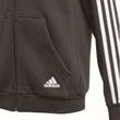 adidas Kinder Sport Trainings Jacke Essentials 3 Stripes Full Zip Hoodie schwarz weiß Bild 5