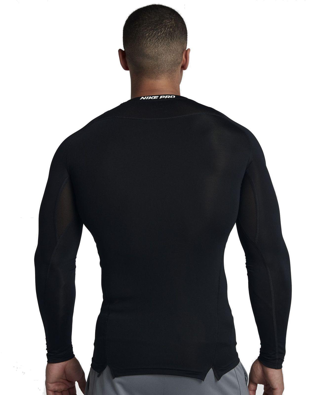 5a31a9f0ede553 Nike Herren langarm Kompressions - Shirt NIKE PRO TOP LS COMP schwarz