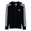 adidas Mädchen Sport Trainings Jacke Essentials 3 Stripes Full Zip Hoodie schwarz