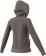 adidas Damen Trainingsjacke Kapuzenjacke Linear Fullzip Hoodie grau coral Bild 5