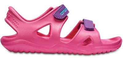 Crocs Kinder Sport Freizeit Sandale Kids' Swiftwater River Sandals pink