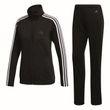 adidas Damen Sport Fitness Trainingsanzug Back 2 Basics 3S Tracksuit schwarz weiß Bild 8