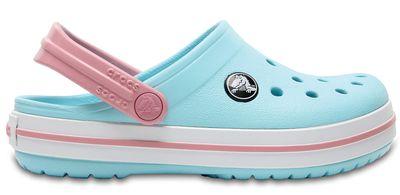Crocs Kinder Sport Freizeit Clogs Kids' Crocband™ Clog ice blue white