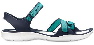 Crocs Damen Sport Freizeit Sandale Women's Swiftwater Webbing Sandal blau