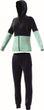 adidas Performance Damen Fitness Freizeit Trainingsanzug COTTON Marker blau mint Bild 4