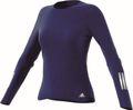 adidas Damen langarm Laufshirt Response Long Sleeve Tee W blau Bild 4