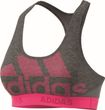 adidas Performance Damen Sport BH DONT REST ALPHASKIN SPR Logo Pack grau lila Bild 4