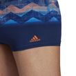 adidas Performance Herren Badehose placed graphic boxer adizero blau orange Bild 6