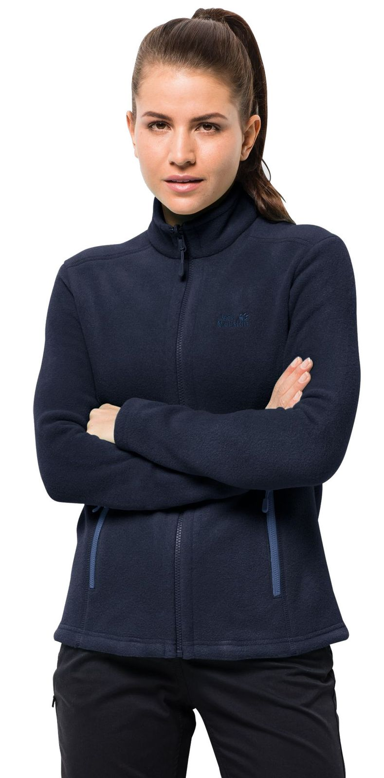 jack wolfskin damen fleecejacke women moonrise jacket blau. Black Bedroom Furniture Sets. Home Design Ideas