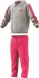 adidas Performance Klein Kinder Trainingsanzug Winter Jogger grau pink