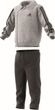 adidas Performance Klein Kinder Trainingsanzug Winter Jogger grau schwarz