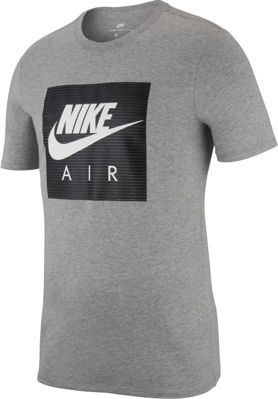 Nike Herren Sport Fitness T Shirt Nike Nsw Cltr Air 1 Dunkelgrau Ebay
