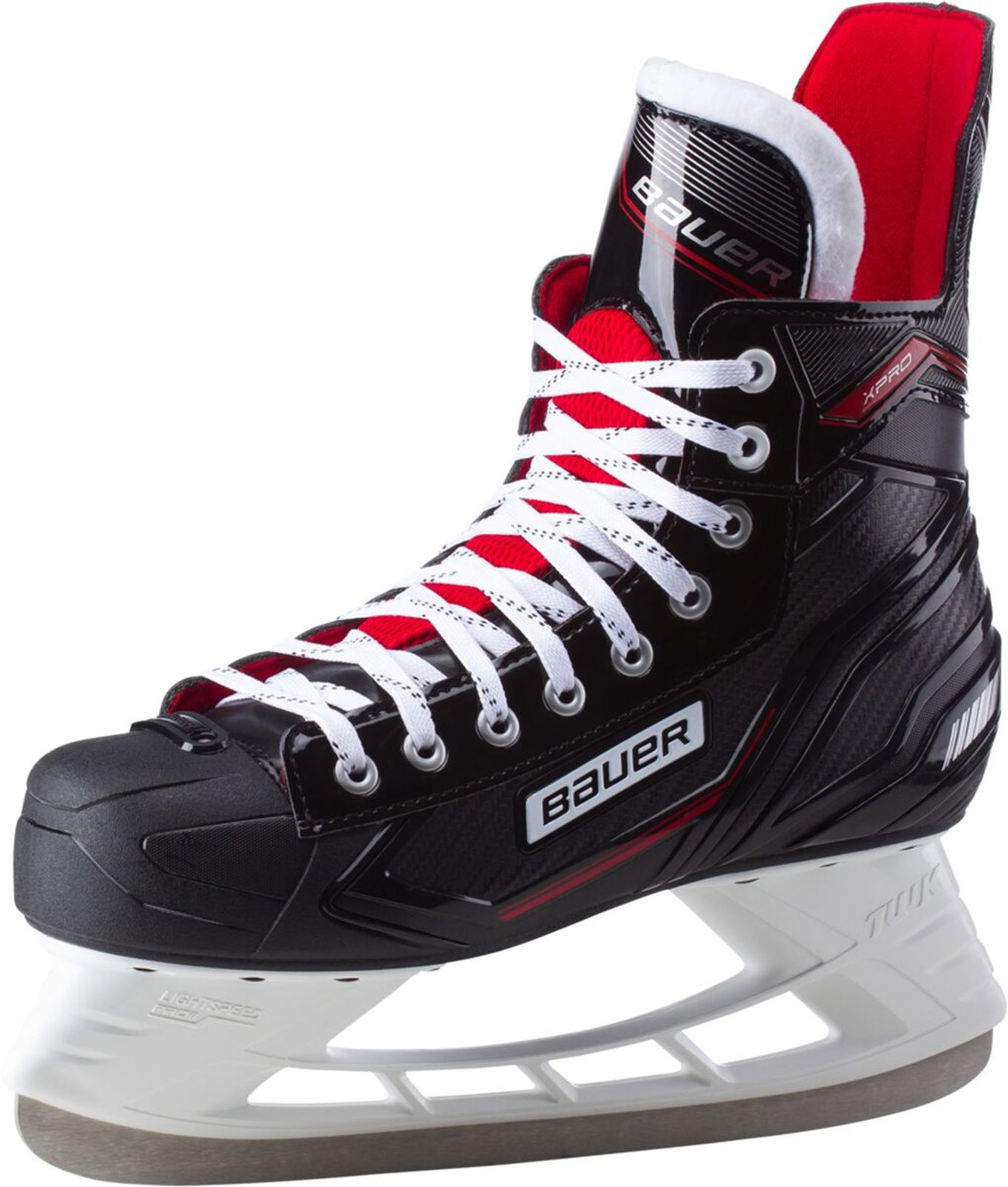 Details zu Bauer Herren Schlittschuhe Eishockey Schlittschuhe X Pro Skate SR schwarz rot