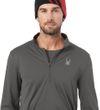 Spyder Herren Skirolli Sweatshirt Limitless Solid Zip Dry Web T-Neck grau polar Bild 4