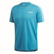 adidas Performance Herren Sport Freizeit T-Shirt DESIGN TO MOVE TEE 3 STRIPES blau Bild 4