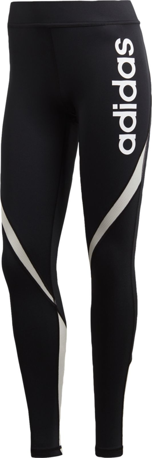 adidas Damen Perfomance Fitnesshose Trainingshose Tight Linear schwarz