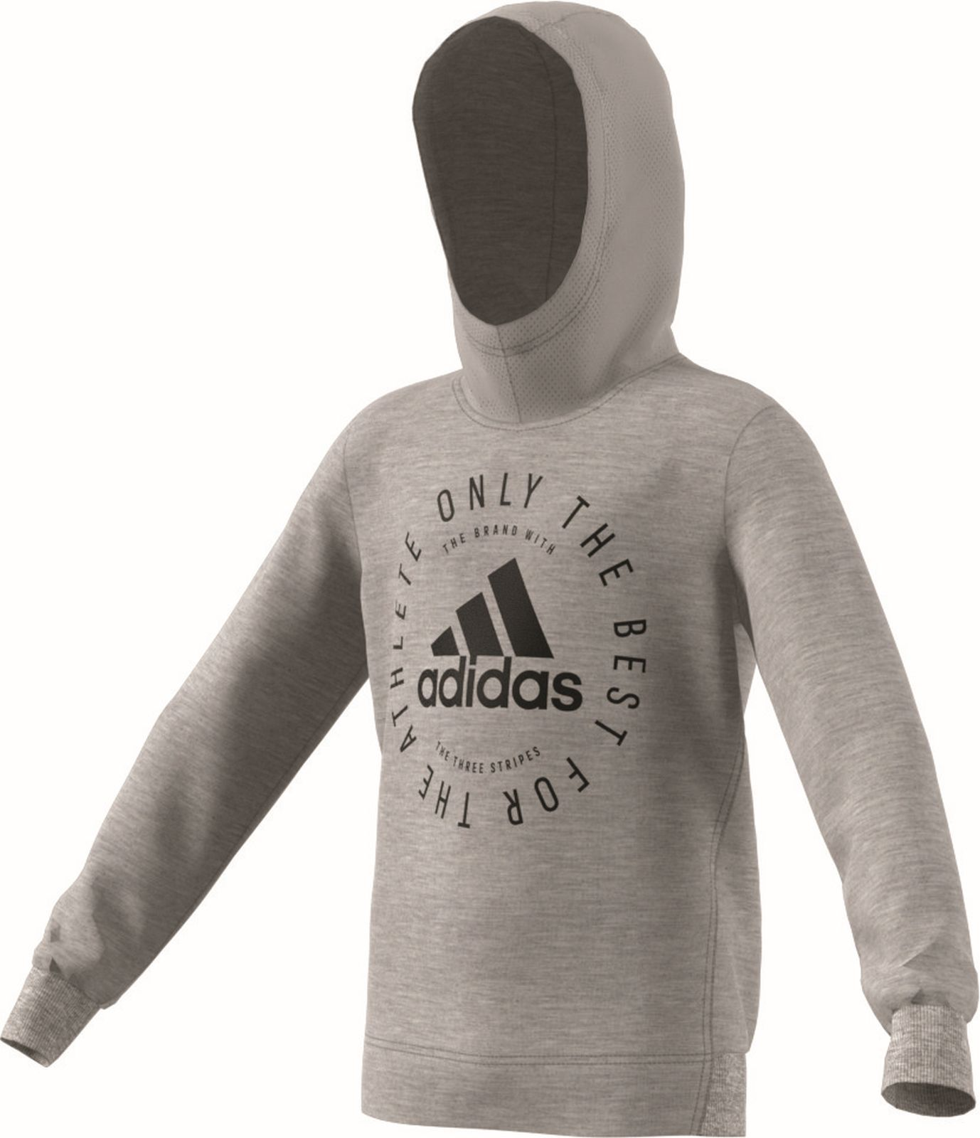 Details zu adidas Performance Kinder Kapuzenjacke Sport ID Hoodie grau