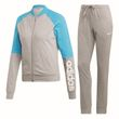 adidas Performance Damen Trainingsanzug New Cotton Marker Tracksuit grau blau Bild 4