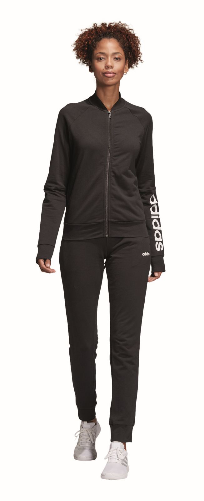 Details about Adidas Performance Womens Tracksuit New Cotton Marker  Tracksuit Black- show original title