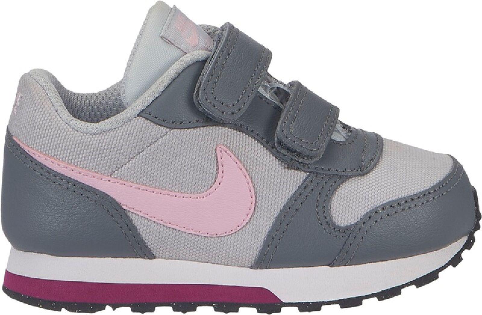 MD Sport 2TDVgrau zu Freizeit Klett pink Runner Schuhe Details Klein Kinder NIKE HI29EDW