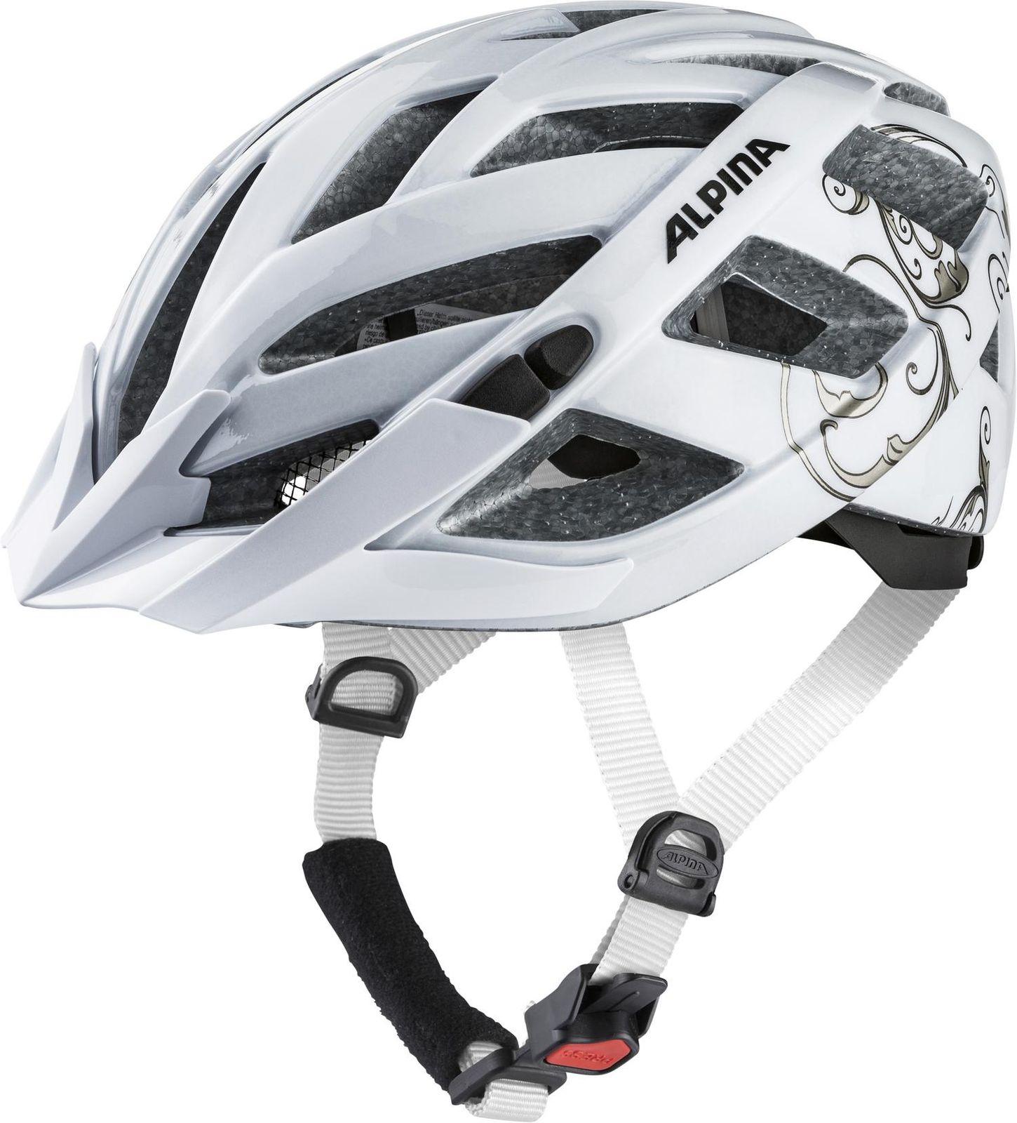 alpina kinder damen radsport fahrrad helm panoma 2 0 weiss prosecco. Black Bedroom Furniture Sets. Home Design Ideas