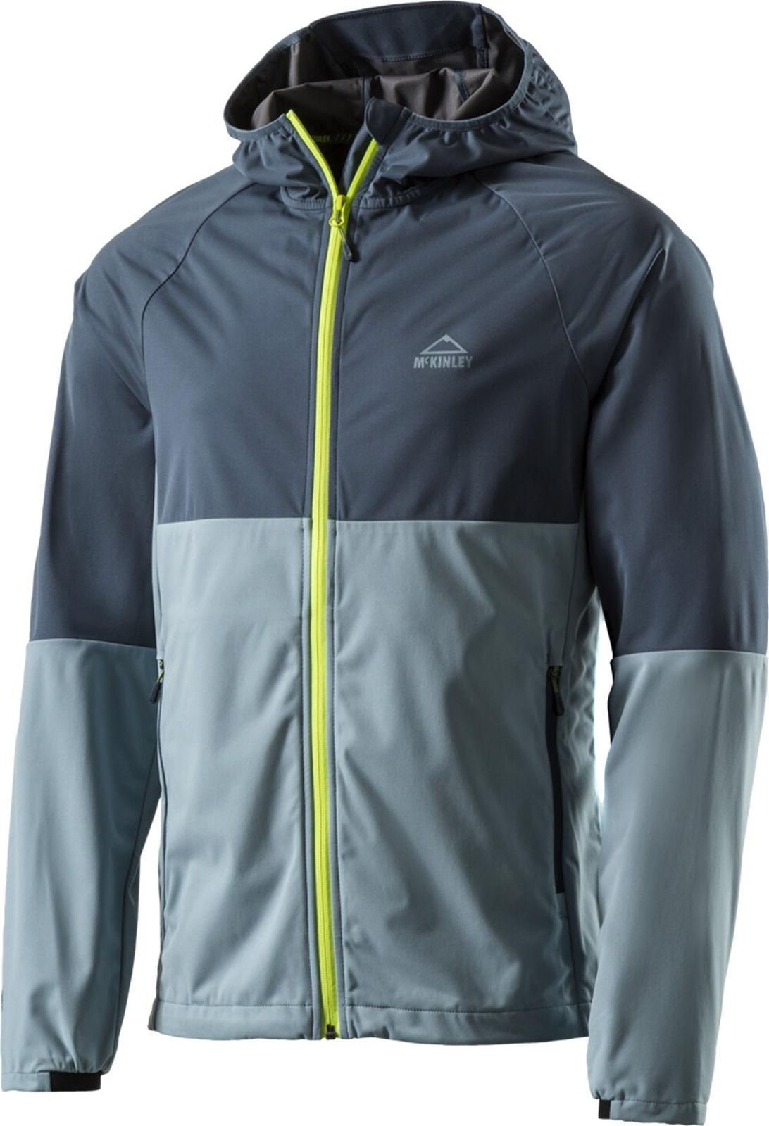 McKinley Herren-Wander-Trekking-Softshell-Jacke Clifton blau rot