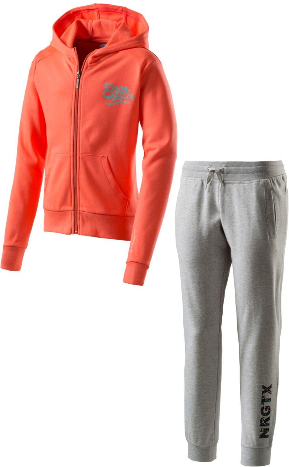 Details zu energetics Mädchen Fitness Trainingsanzug Sportanzug Susi + Svenja 7 rot grau