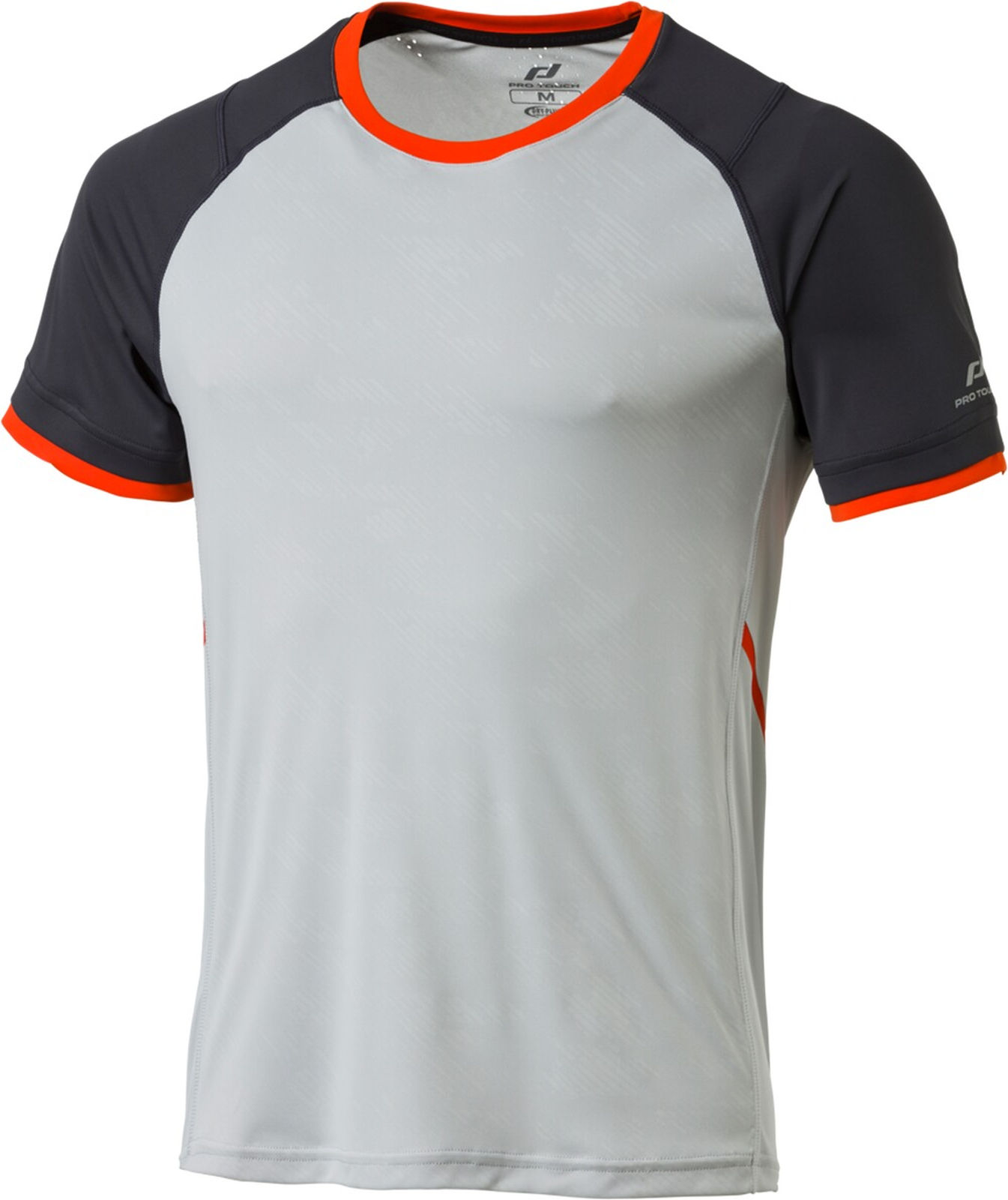 Details about Pro Touch Men's Running Shirt Sports Tee Functional T Shirt Akin Grey Orange