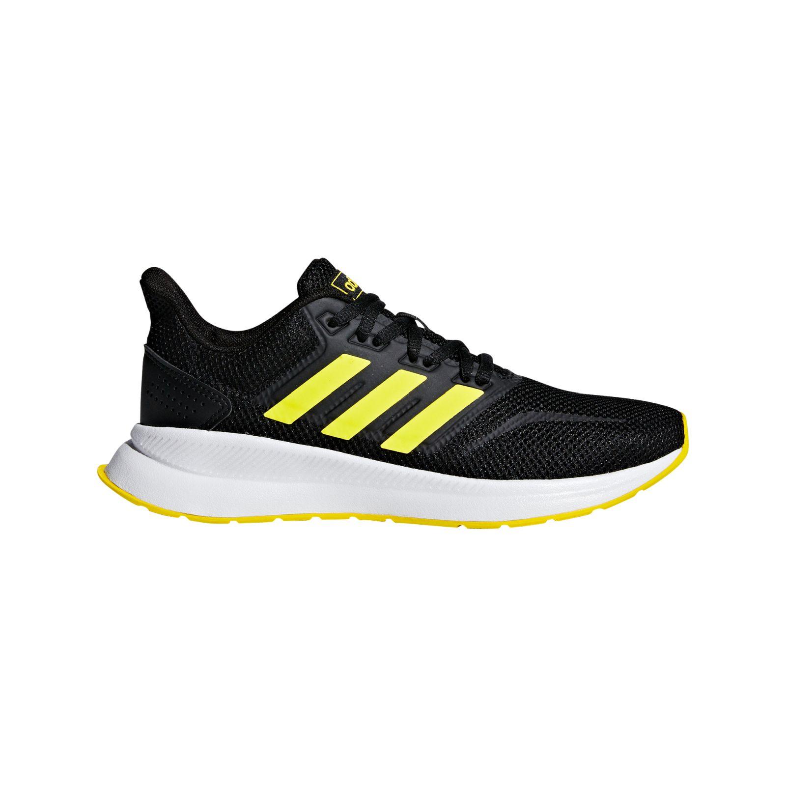 adidas Kinder Running Freizeit-Lauf-Schuhe Runfalcon K schwarz gelb weiß