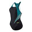 Aqua Sphere Michael Phelps Damen Schwimm-Freizeit-Badeanzug Hanoi schwarz grün