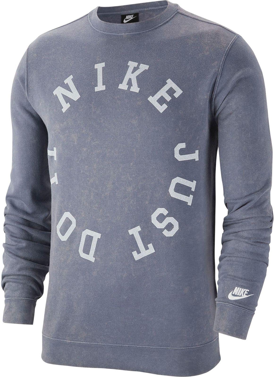 Details about Nike Men's Sport Freizeit Pullover Sweatshirt Ce Cr French Terry Sweat Blue