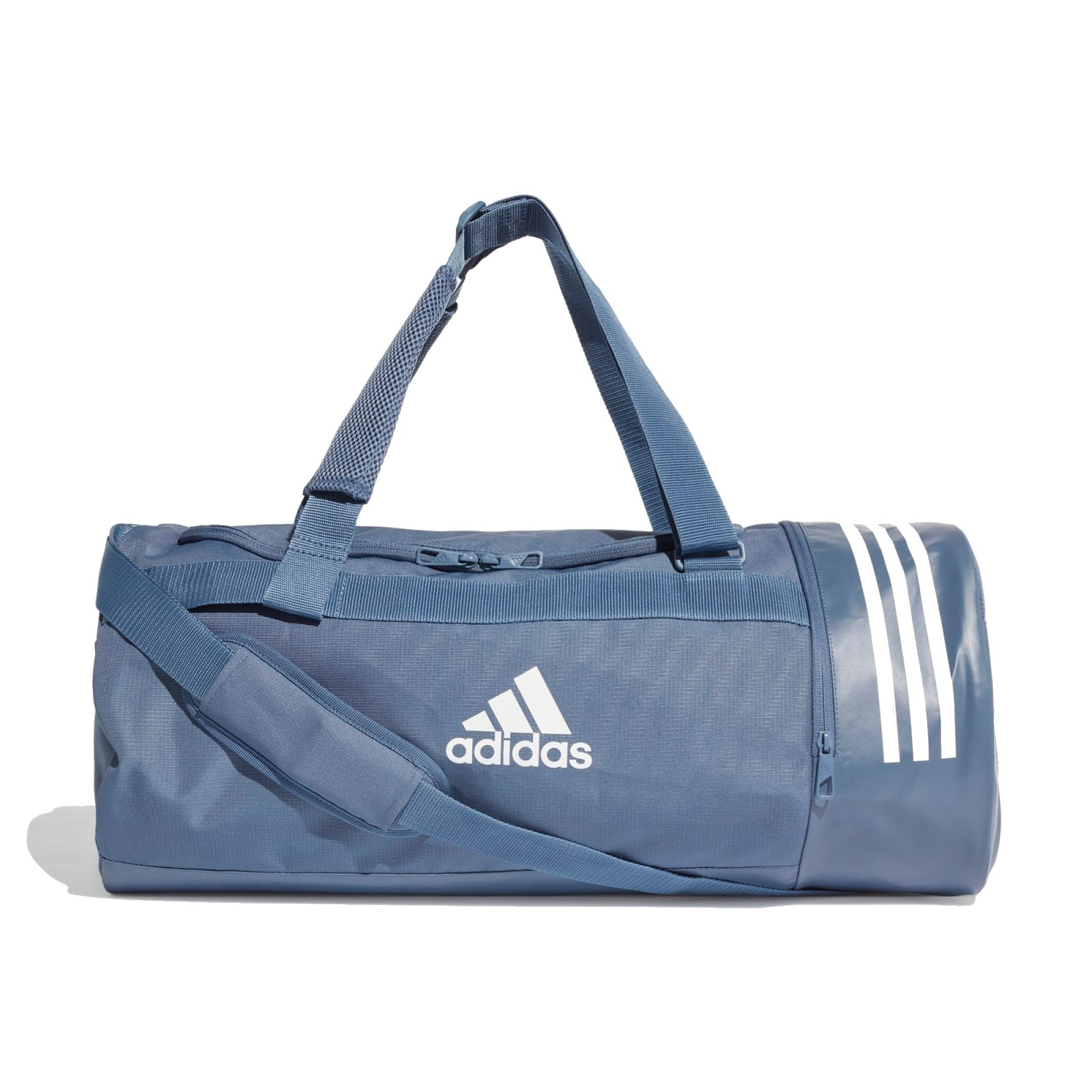 Details zu adidas Performance Sporttasche CONVERTIBLE 3 STRIPES DUFFEL BAG M blau DZ8693
